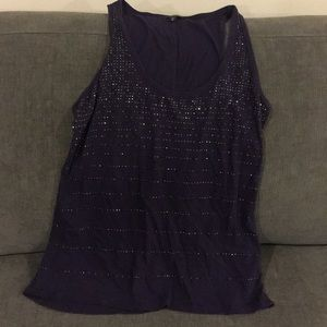 Express Tops - Purple sparkly tank